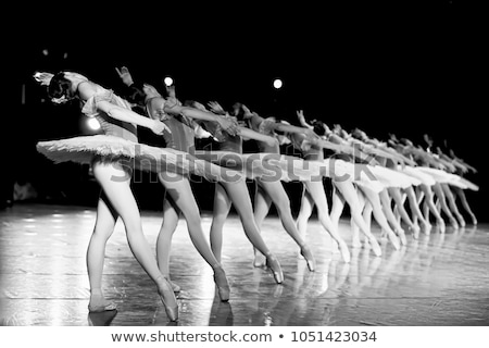 sprookje · ballet · ballerina · blauwe · bloem · magie · vlinders - stockfoto © tanya_ivanchuk