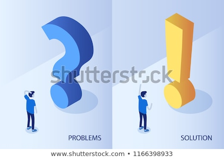 Question mark and exclamation mark Stock photo © burakowski