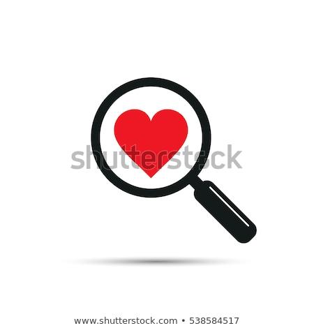 Preto amor namoro ícones vetor os ícones do web Foto stock © SergeyT