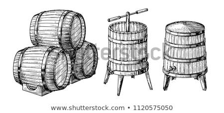wine press in winery stock photo © phbcz