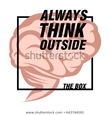 Sempre pensar fora caixa vintage Foto stock © maxmitzu