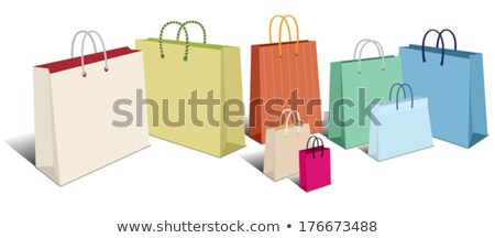 retro shopping bags carrier bags icons symbols stock photo © fenton