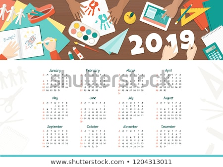 case study on desktop calendar stock photo © tashatuvango