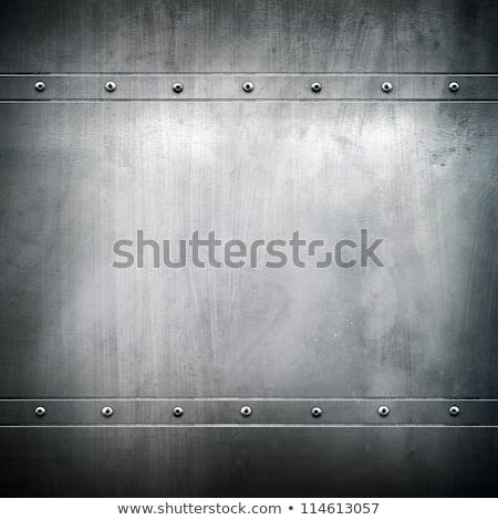 ストックフォト: グレー · 金属の質感 · 銀 · フォーム · 壁 · 背景