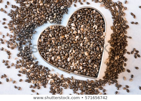 Heart in chia Stock photo © FOTOYOU