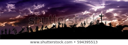 Foto stock: Jesus Christ Carrying The Holy Cross