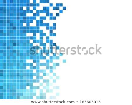 digitale · piazza · pixel · mosaico · abstract · blu - foto d'archivio © sidmay