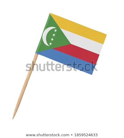 Minyatür bayrak Komorlar yalıtılmış iş Stok fotoğraf © bosphorus
