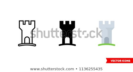Three medieval knights isolated on grey background. Stock photo © Nejron