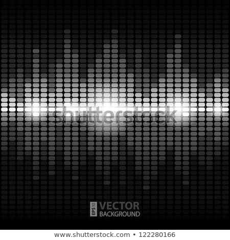 Blanco digital ecualizador luz fondo disco Foto stock © sdmix
