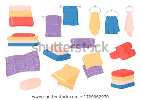 zeep · handdoeken · zomer · rozen · geneeskunde · ontspannen - stockfoto © kurhan