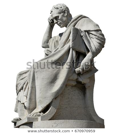 статуя римской солнце время портрет голову Сток-фото © andromeda
