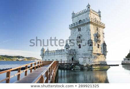 Lissabon · daken · Portugal · panorama · stad · straat - stockfoto © capturelight