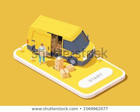 Delivery Cargo Truck Stok fotoğraf © tele52