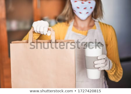 Young woman preparing tea Stock photo © jiri_miklo