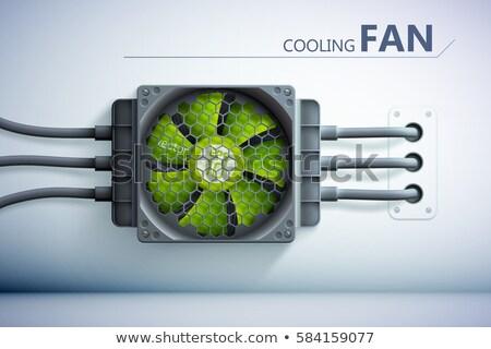 Foto stock: Illustration Of Gray Ventilation