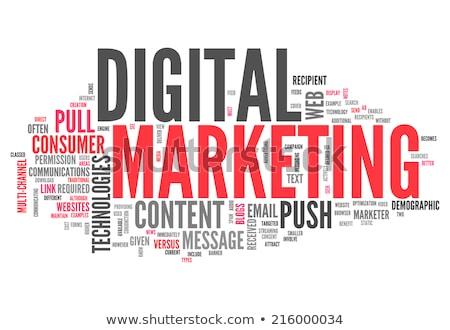 Stok fotoğraf: Word Cloud - Web Marketing