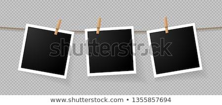 Сток-фото: Photo Prints Hanging On A Rope