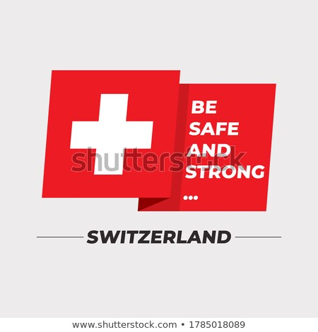Bandiera Svizzera idea design sfondo Foto d'archivio © kiddaikiddee