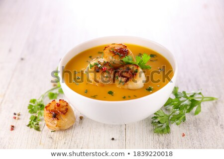 soup and fried scallop Stock photo © M-studio