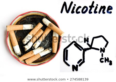 chemical formula of nicotine on a white background stock photo © zerbor