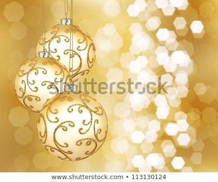 Christmas interior in gold color 3 Stock photo © Lenanichizhenova