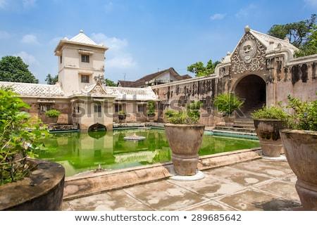 Banho água palácio castelo real jardim Foto stock © dinozzaver