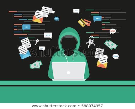 Internet ladrón vector Cartoon búsqueda reloj Foto stock © Vg