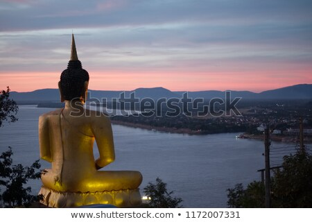 Buddha standbeeld Laos oude land Stockfoto © prill