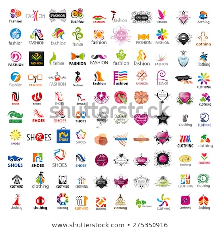 biggest collection of vector logos shoes Stock photo © butenkow