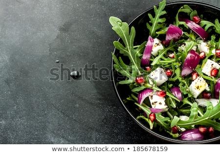 saláta · friss · egészséges · uborka · tál · vegetáriánus - stock fotó © art9858