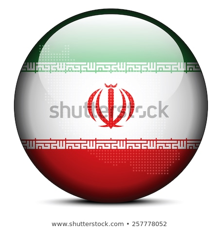 Map with Dot Pattern on flag button of Iran Stock photo © Istanbul2009