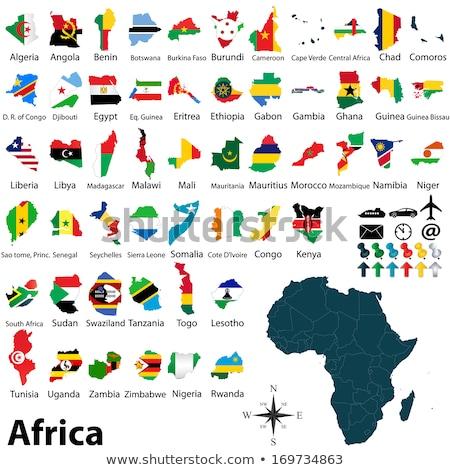 Kenya · politikai · térkép · keretek · fontos · városok - stock fotó © istanbul2009