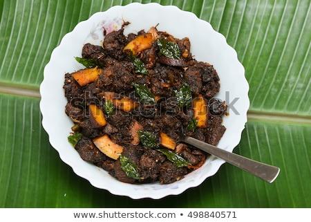 Kína · finom · étel · lótusz · marhapörkölt · földimogyoró - stock fotó © wxin
