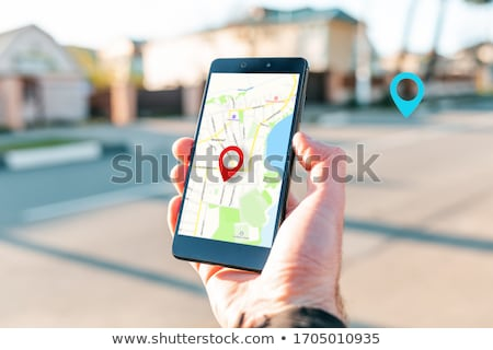Strony GPS rano świetle kompas Zdjęcia stock © naumoid