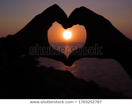 Coeur île majorque bleu amour fond Photo stock © BarbaraNeveu