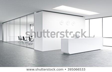 3D · recepció · szoba · renderelt · kép · tárgyalóterem · render - stock fotó © wxin