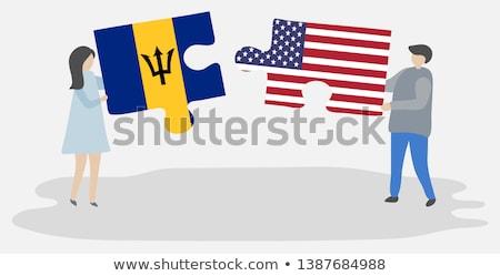 США Барбадос флагами головоломки вектора изображение Сток-фото © Istanbul2009