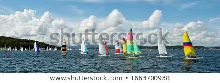 zeilboten · meer · hemel · stad · sport · zomer - stockfoto © Nickolya