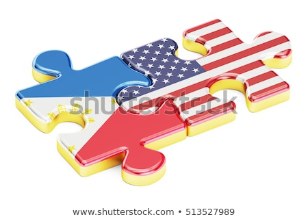 USA and Philippines Flags in puzzle Stock photo © Istanbul2009