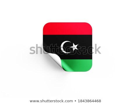 Square label with flag of libya Stock photo © MikhailMishchenko