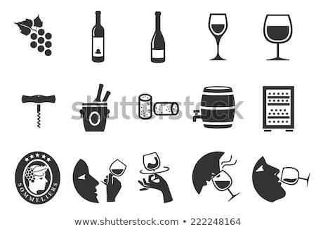 vin · vigne · décoratif · design · bouteille · verre - photo stock © -baks-