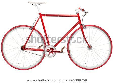 Elegáns hipszter bicikli fix viselet izolált Stock fotó © vlad_star