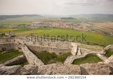 城 見 塔 南 壁 背景 ストックフォト © master1305