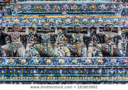 Demonio tutor estatua templo decoración Bangkok Foto stock © romitasromala