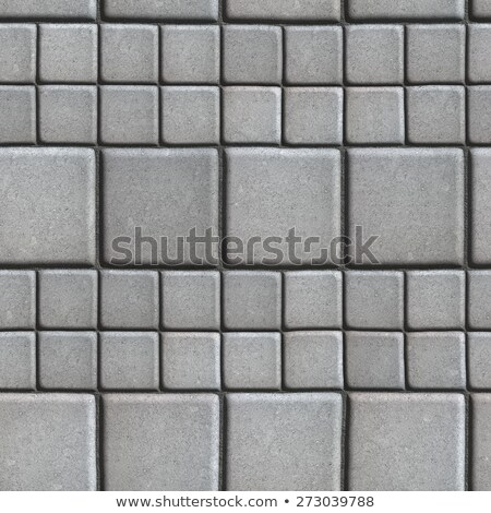 Zdjęcia stock: Gray Paving Slabs Lined With Squares Of Different Value