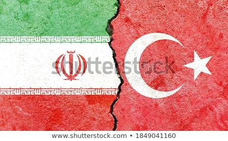 トルコ イラン フラグ パズル 孤立した 白 ストックフォト © Istanbul2009