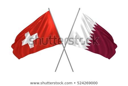 switzerland and qatar flags stock photo © istanbul2009