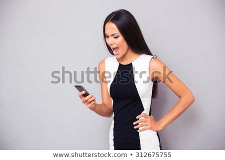 infeliz · mulher · rachado - foto stock © deandrobot