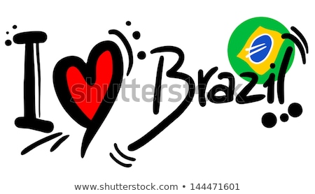 brazil love   heart with a set of icons stock photo © marish